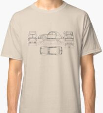 Vintage Citroen DS Blueprint | Cars Classic T-Shirt