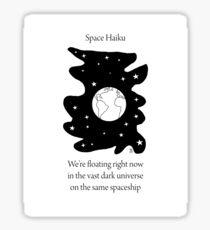 Space Haiku Sticker
