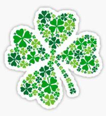 lucky four-leaf clover, green shamrock  Sticker