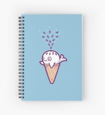 Whale ice cream  Spiral Notebook