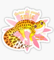 Geckos will always smile Sticker