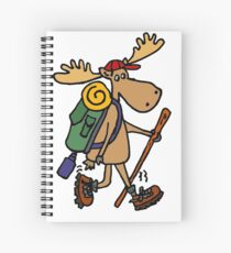 Funny Cool Moose Hiker Spiral Notebook
