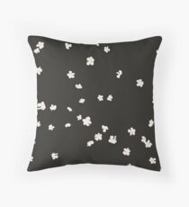 Hydrangeas charcoal Throw Pillow