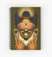 COSMIC SLAP MAN - bsam2016 Spiral Notebook