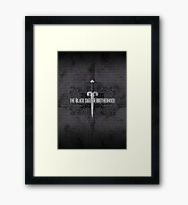 The Black Dagger Brotherhood  [black text] Framed Print