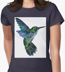 Nature Hummingbird Womens Fitted T-Shirt