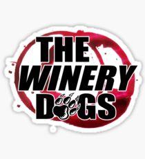 the winery dogs logo white wulan Sticker