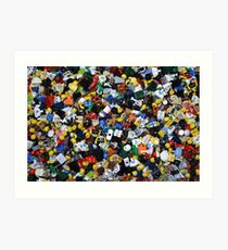 Lego Everywhere Art Print