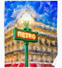 Paris As Night Falls Poster