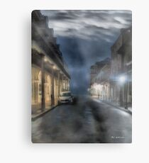 Rue Brumeuse Metal Print