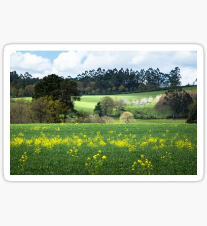 Idyllic landscape in A Coruna Sticker