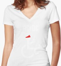 Funny Ac Dc Axl Women's Fitted V-Neck T-Shirt