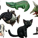Cows, Crocs, Cats, Chimeras... by mikelevett