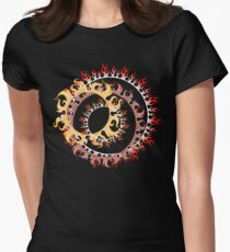 Flames Women's Fitted T-Shirt
