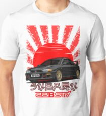 Subaru Impreza 22B WRX STI - R.I.P. EVO (Black) Unisex T-Shirt