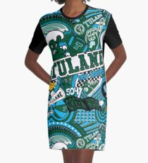 Vestido camiseta Tulane Collage