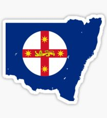 Flag Map of New South Wales  Sticker