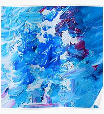 Abstract acrylic painting - a snowstorm. Poster