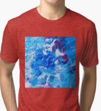Abstract acrylic painting - a snowstorm. Tri-blend T-Shirt
