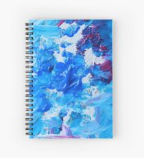 Abstract acrylic painting - a snowstorm. Spiral Notebook