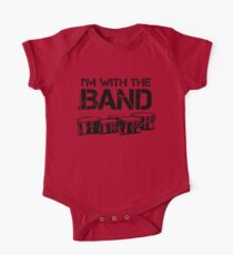I'm With The Band - Tenor Drums (Black Lettering) One Piece - Short Sleeve