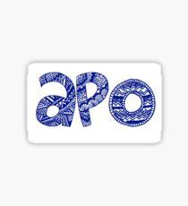 APO Letters Sticker