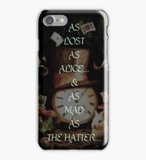 MAD AS THE HATTER iPhone Case/Skin