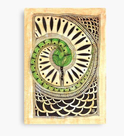 Little green snake Canvas Print