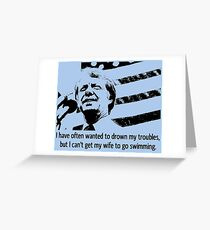 JIMMY CARTER-3 Greeting Card