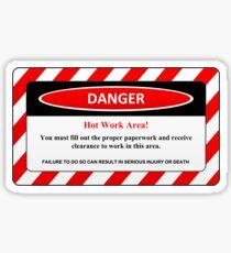 Hot Work Area Sticker