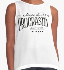 Master the Art of Procrastination Contrast Tank