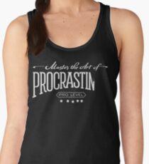 Master the Art of Procrastination / White Women's Tank Top