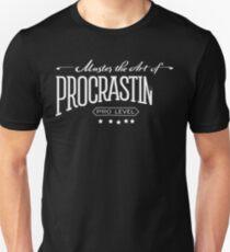 Master the Art of Procrastination / White Unisex T-Shirt