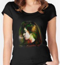 Camiseta entallada de cuello redondo Lauren Jauregui