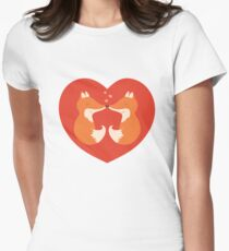 Lovers foxes. T-Shirt