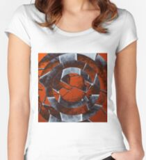 Concentric Rust Women's Fitted Scoop T-Shirt
