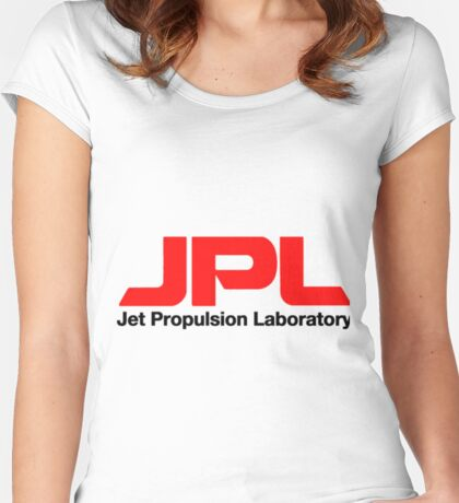 Jet Propulsion Laboratory (JPL) Logo for Light Colors ONLY Women's Fitted Scoop T-Shirt