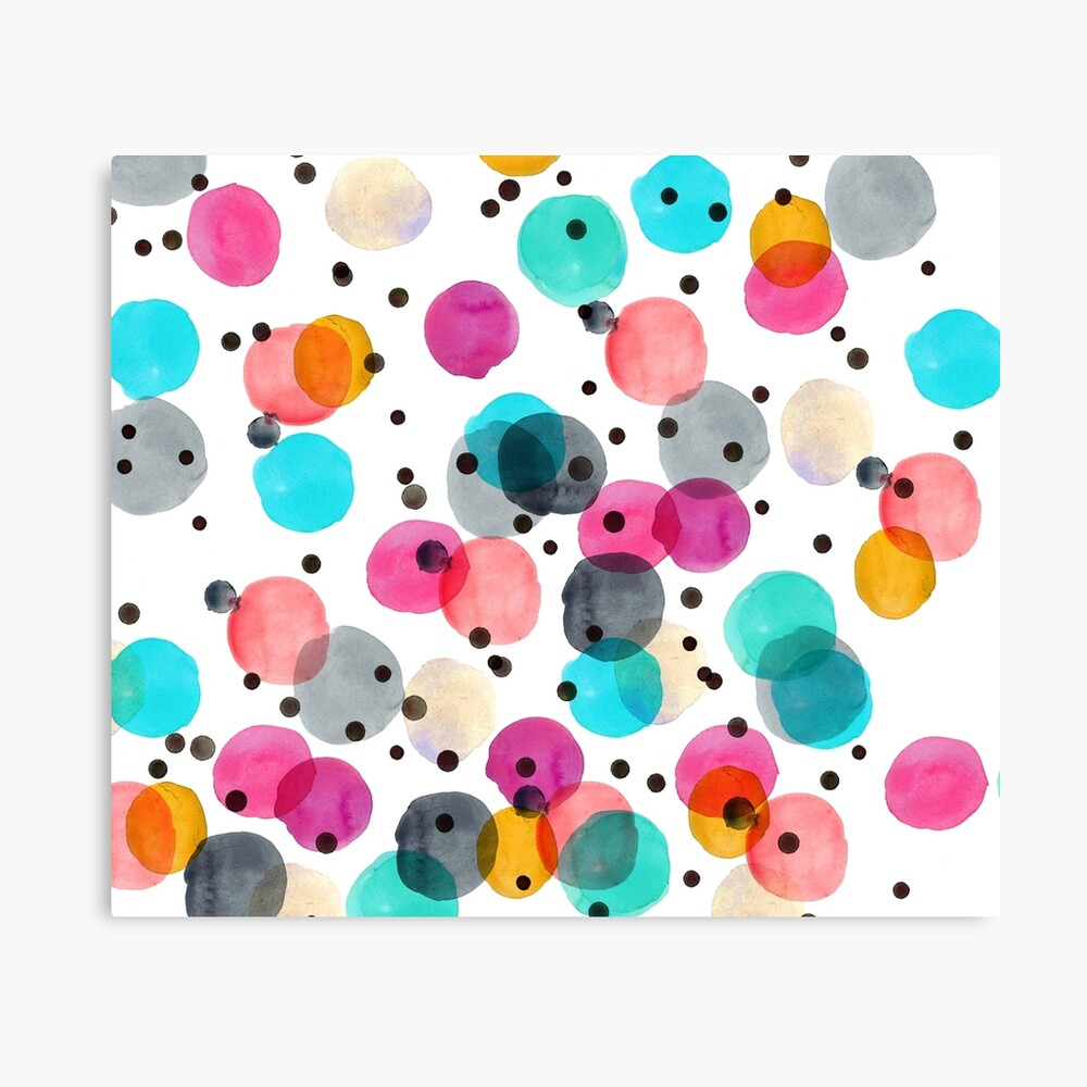 Festive Dots Canvas Print