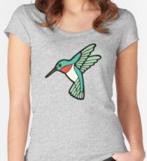 Hummingbird Pattern  Women's Fitted Scoop T-Shirt