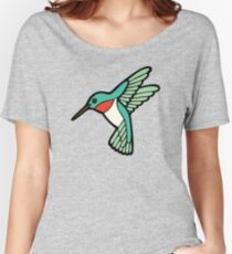 Hummingbird Pattern  Women's Relaxed Fit T-Shirt