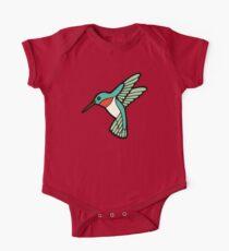 Hummingbird Pattern  One Piece - Short Sleeve