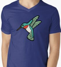 Hummingbird Pattern  Men's V-Neck T-Shirt