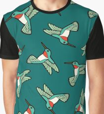 Hummingbird Pattern  Graphic T-Shirt