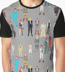 Bowie Scattered Fashion Graphic T-Shirt