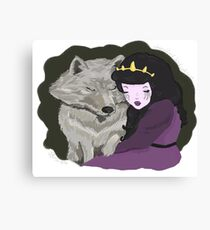 Princess and Wolf Canvas Print