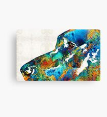 Colorful Dog Art - Loving Eyes - By Sharon Cummings  Canvas Print