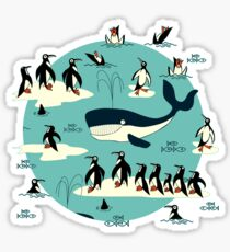 Whales, Penguins and other friends Sticker