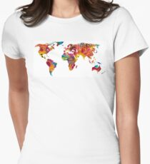 Map of The World 2 -Colorful Abstract Art T-Shirt