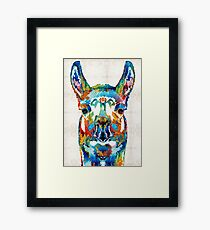 Colorful Llama Art - The Prince - By Sharon Cummings Framed Print