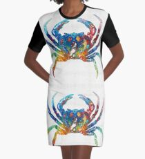 Colorful Crab Art By Sharon Cummings Graphic T-Shirt Dress